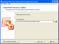 PowerPoint Recovery Toolbox screenshot